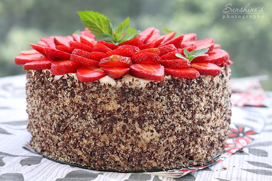 7. shokoladova torta s qgodi i maskarpone