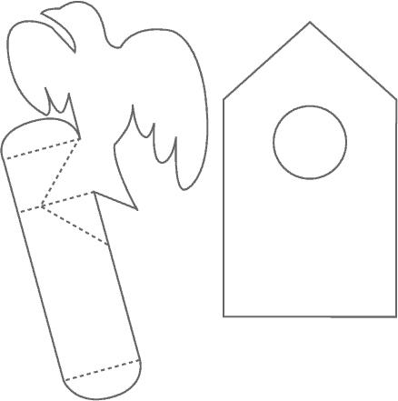 хартиена схема за къща за птички 2