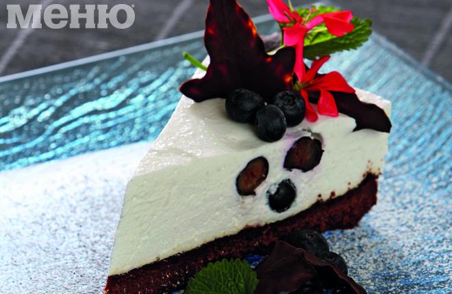 Черничный пирог с йогуртом