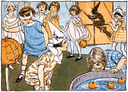 хелоуин детско празнентсво ок. 1920 г.