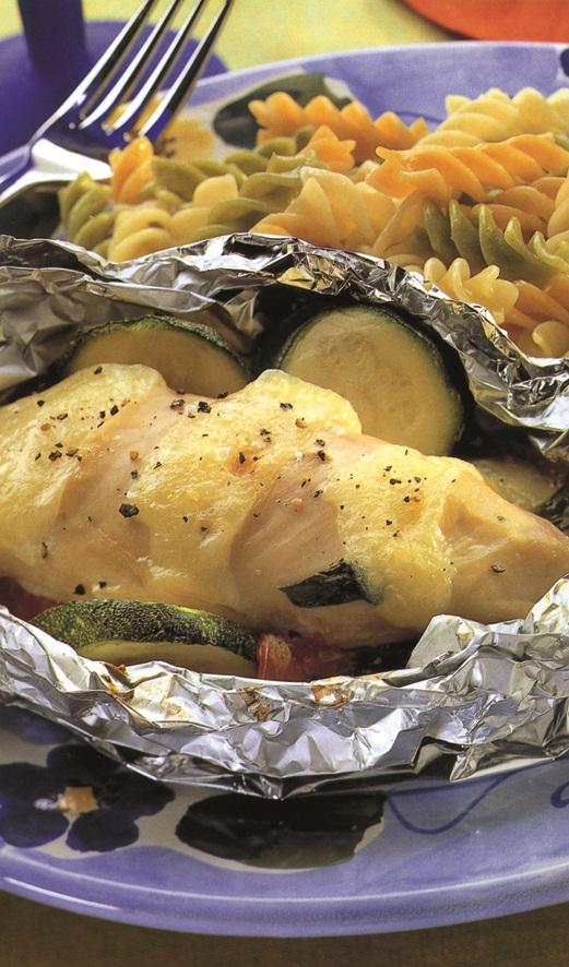 Средиземноморские куриные пакетики