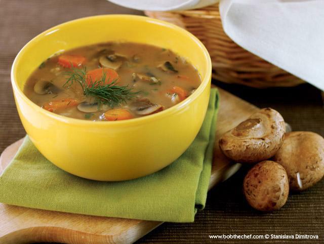Дикий грибной суп