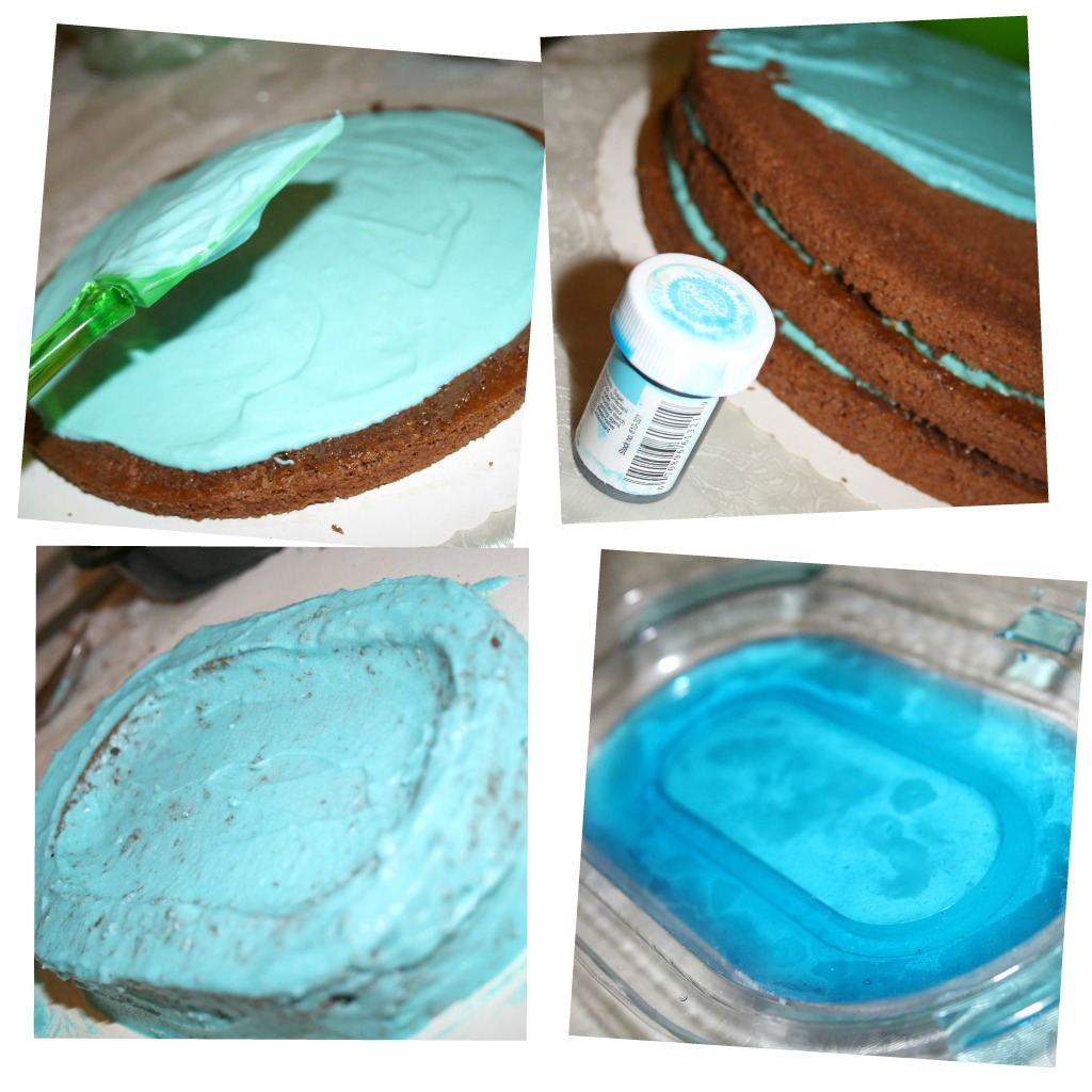 Морской торт с бассейном