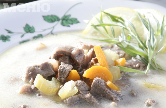 Суп из телятины с эстрагоном
