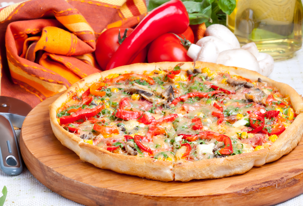 vegetarianska pizza