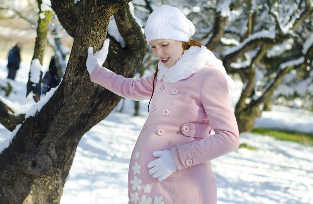 winter pregnant