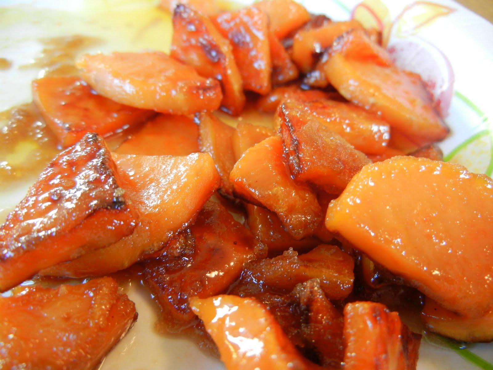 Сладък картоф в тиган (8 месеца)