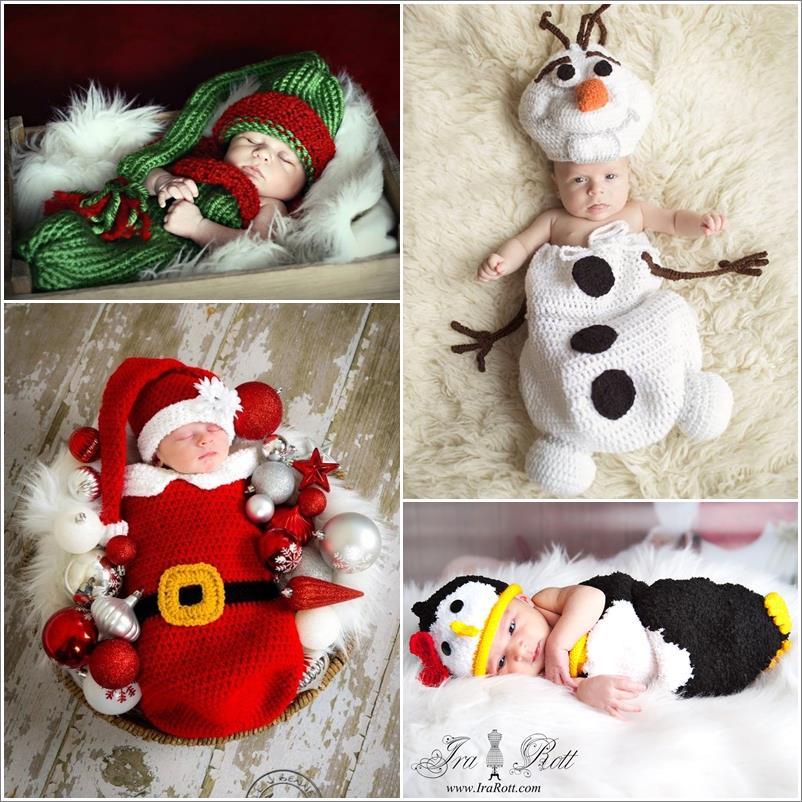 Коледни идеи за бебешки снимки