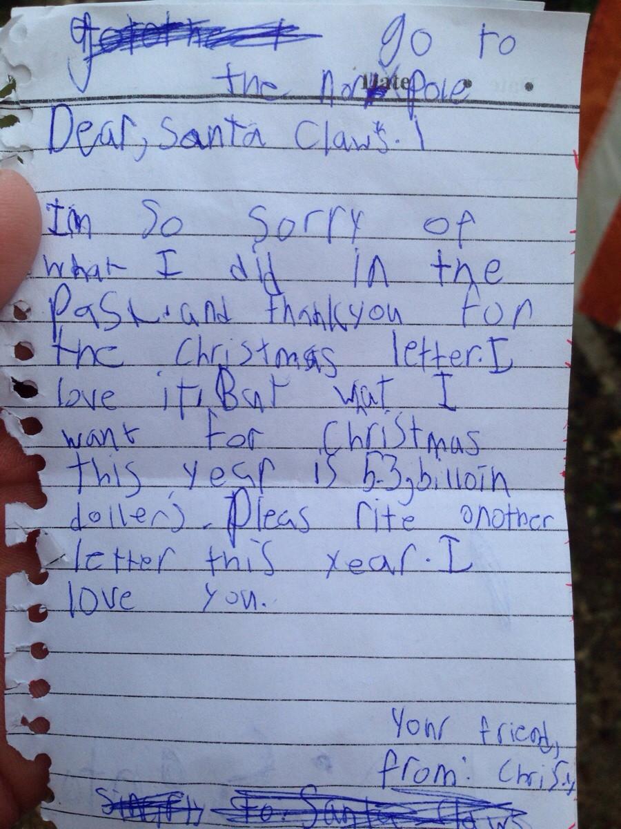 Най-забавните писма до дядо Коледа