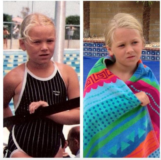 Невероятна прилика между родители и деца в 17 снимки