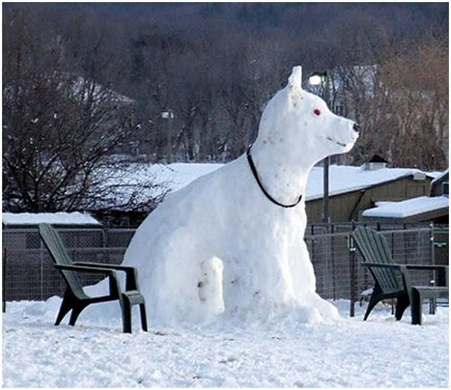 Повече от снежен човек – това е снежно изкуство!