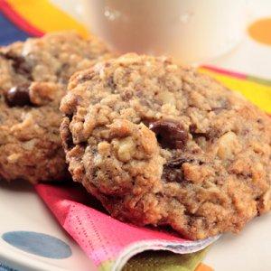 Овсяное печенье с грецкими орехами и медом