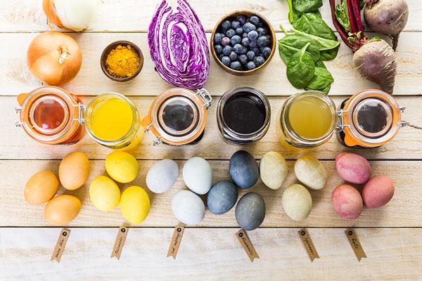 Естествени идеи за боядисване на великденски яйца