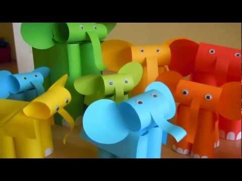 Как да направим слонче от хартия