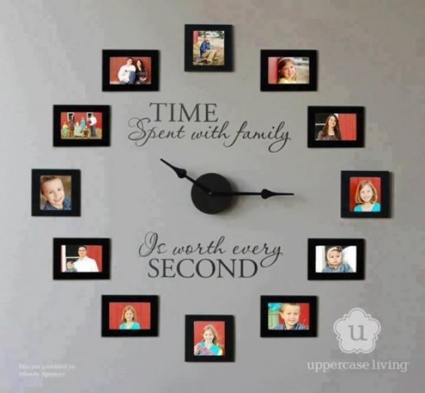 Семейните снимки като част от интериора у дома