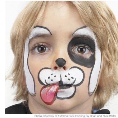 Една идея как да направим клоунски макияж на хлапето у дома