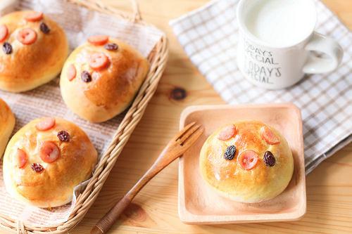 Japanese Curry Piggy Bread Bun