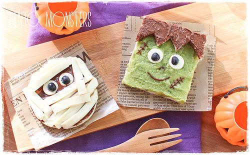 Mummy & Frankenstein Sandwiches