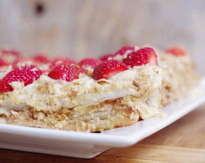 Лесен сладкиш с пресни ягоди