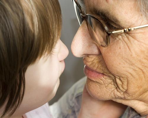 За баба ми … в мен