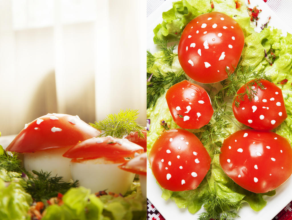 """Пълнени яйца """"Мухоморка"""" от Русия"""