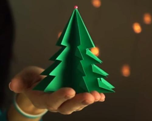 3D елха от хартия