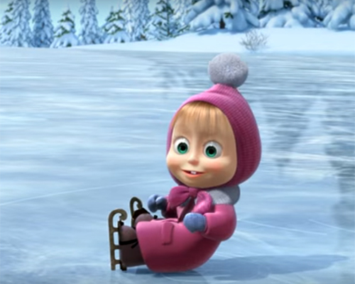 Маша и Мечокът: Празник на леда (видео)