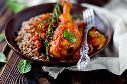 2 рецепта с гречкой - с мясом и без
