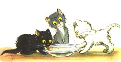 Трите котета – приказка в картинки