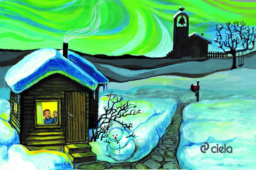 Замръзналото езеро (приказка)