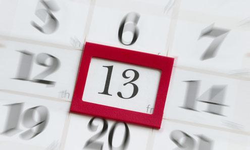 Трискайдекафобия или за паниката от петък 13-ти