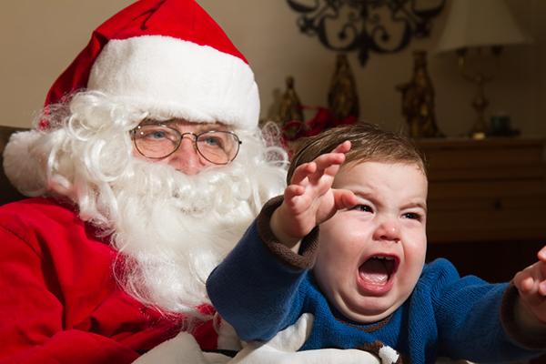 Защо децата се страхуват от Дядо Коледа