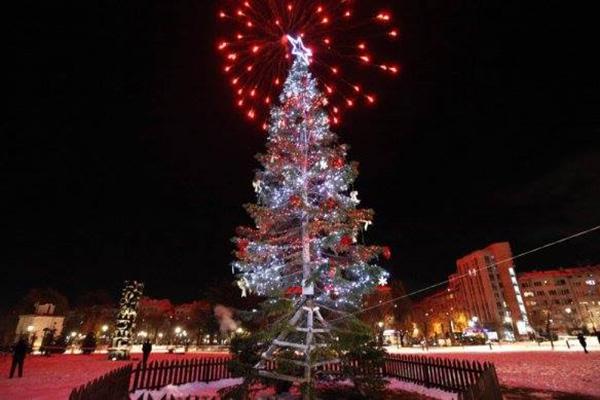 Коледната елха на София грейва днес