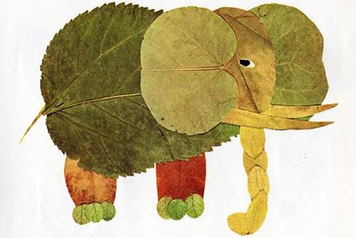 Есенни колажи с разноцветни листа