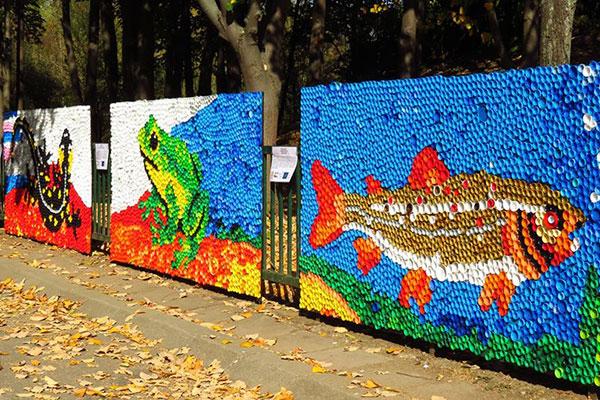 Красиви цветни мозайки украсиха Софийския зоопарк
