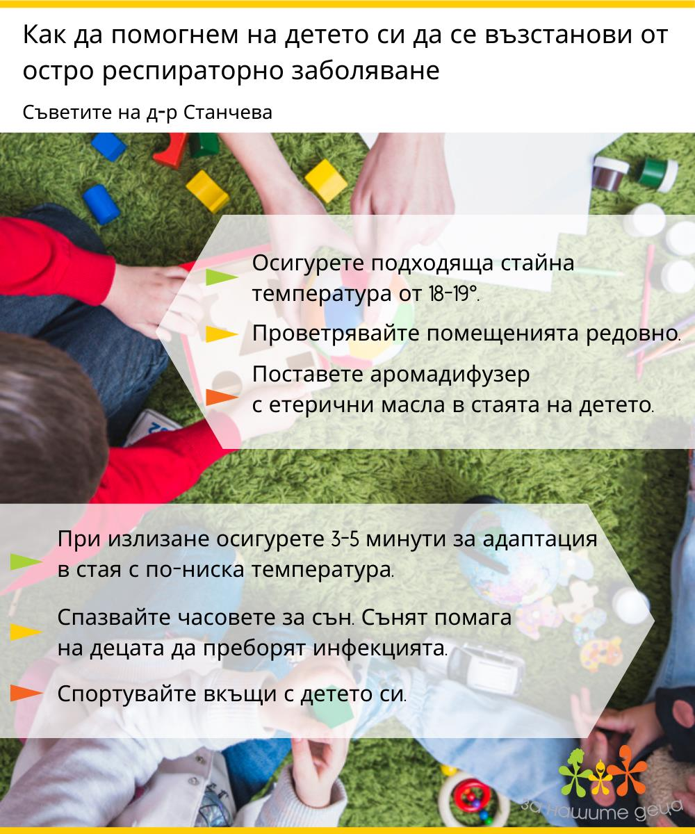 Съветите на д-р Станчева: Как да възстановим детето след остро респираторно заболяване?